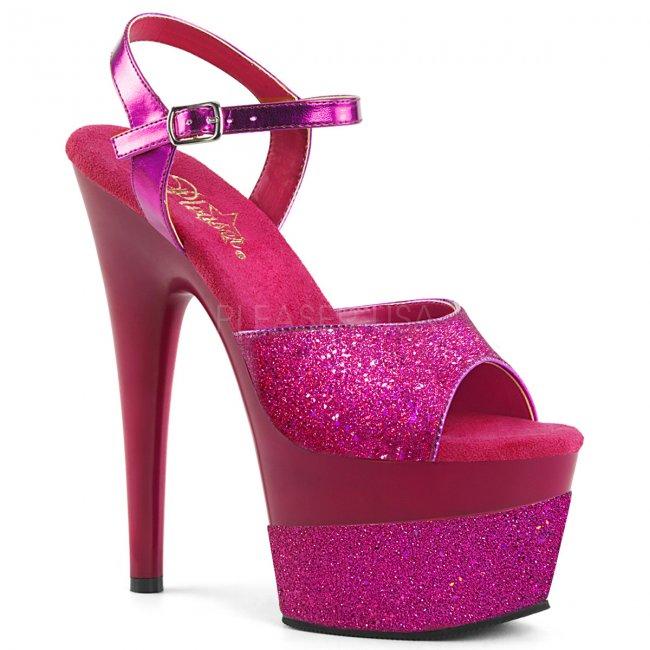 vysoké dámské sandály s glitry Adore-709-2g-fsg - Velikost 35