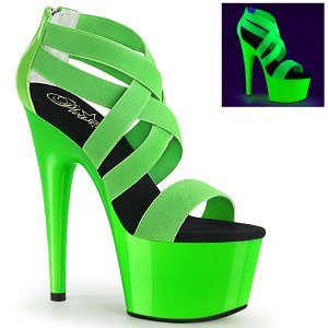 dámské zelené UV sandály na vysoké platformě Adore-769uv-ngnelspt