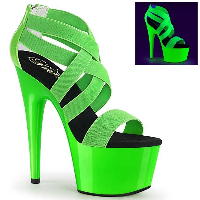 dámské zelené UV sandály na vysoké platformě Adore-769uv-ngnelspt - Velikost 40