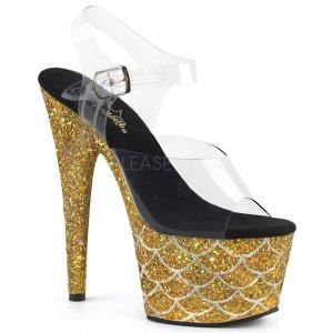 vysoké zlaté sandály s glitry Adore-708mslg-cgg