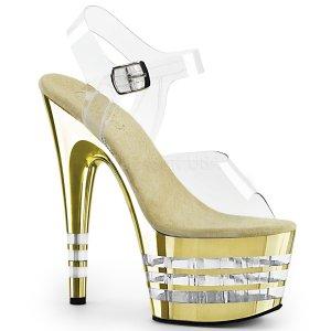 vysoké dámské zlaté sandály Adore-708chln-cgch
