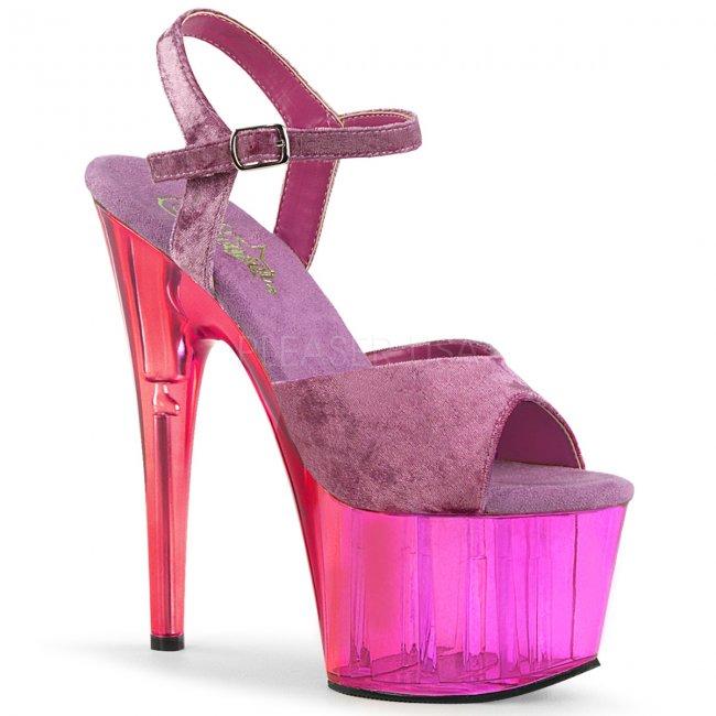 fialové dámské sandály na platformě Adore-709mct-ppvel - Velikost 38