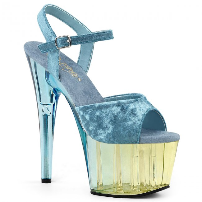 modré dámské sandály na platformě Adore-709mct-lbuvel - Velikost 38