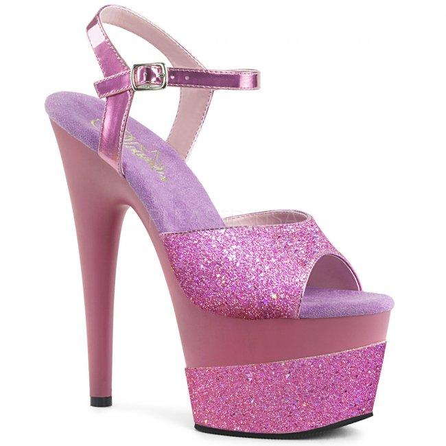 vysoké dámské sandály s glitry Adore-709-2g-lvg - Velikost 35
