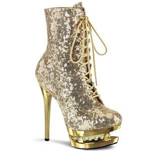 luxusní zlaté kotníkové kozačky s glitry Blondie-r-1020-gsqgch