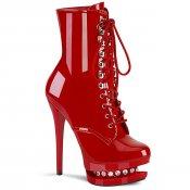 červené luxusní kotníkové kozačky Blondie-r-1020-r