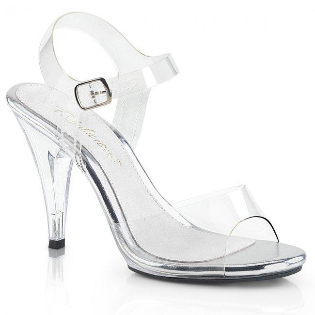 sexy sandálky Pleaser Caress-408Clr - Velikost 39