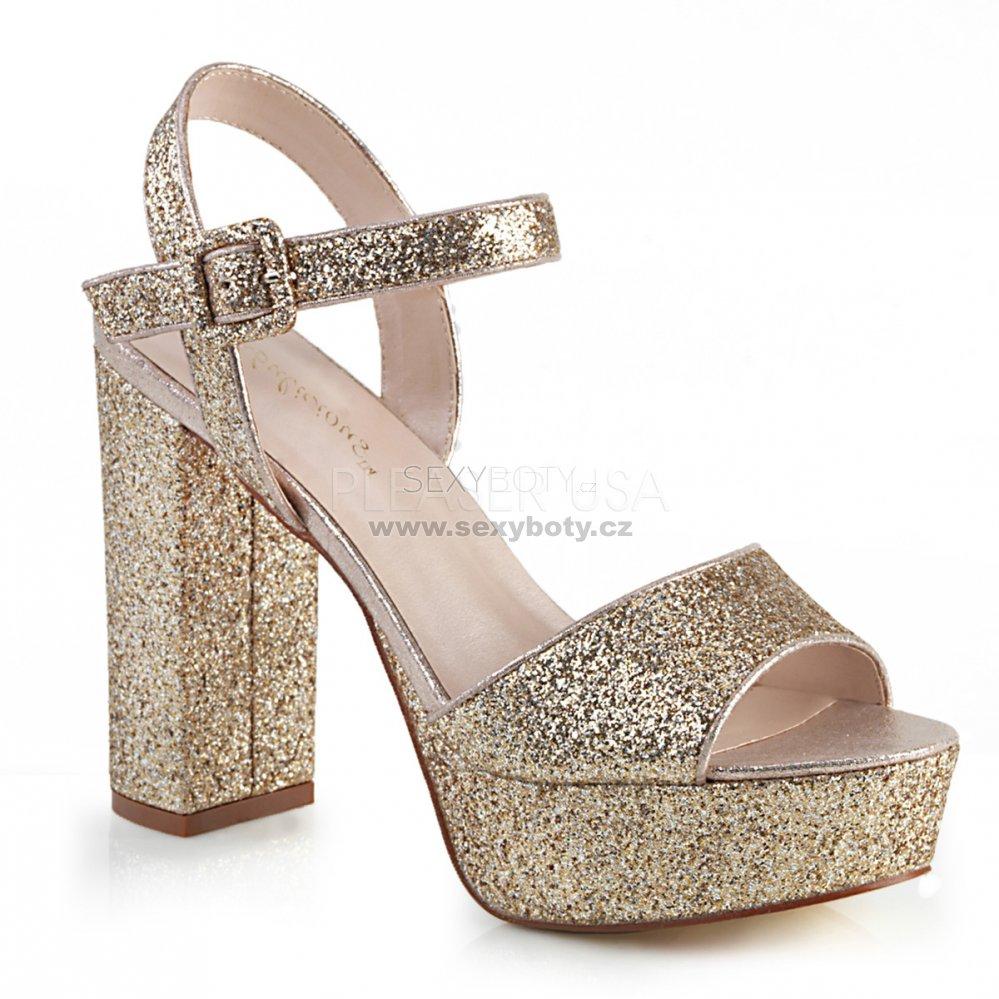 d4562c372ea6 zlaté dámské sandály s glitry Celeste-09-gg - Velikost 37   SEXYBOTY.cz