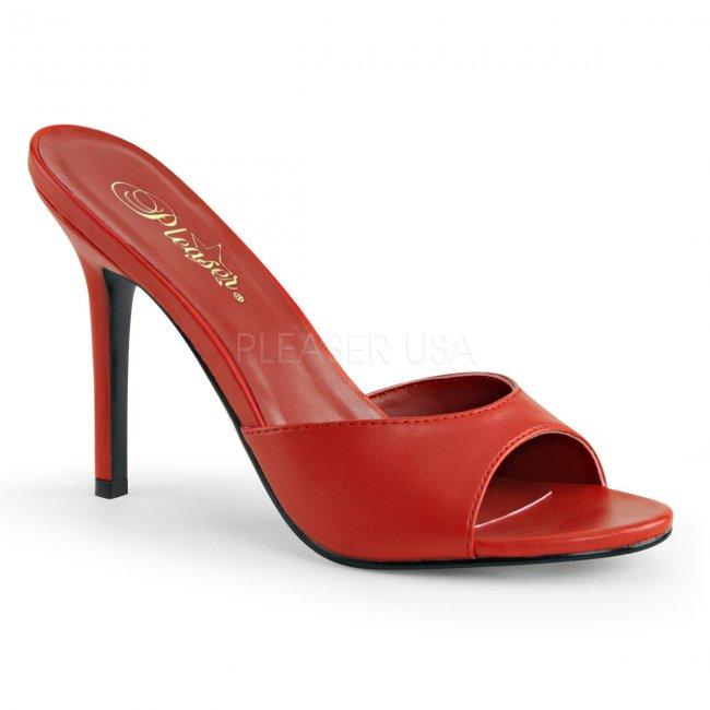 červené dámské pantoflíčky Classique-01-rpu - Velikost 41
