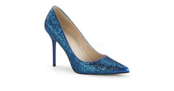 modré dámské lodičky s glitry Classique-20-nbglf - Velikost 45   SEXYBOTY.cz d5de085db2