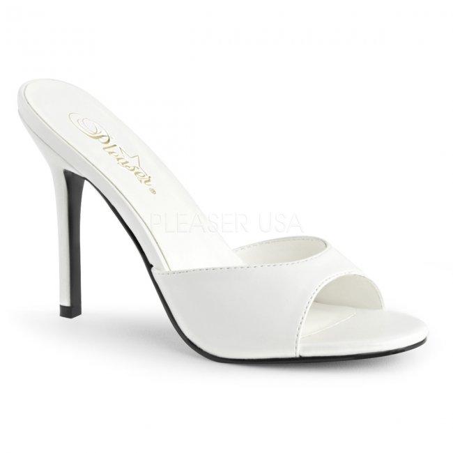 bílé dámské pantoflíčky Classique-01-wpu - Velikost 35