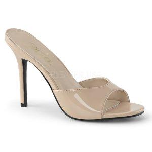 béžové dámské pantoflíčky Classique-01-nd