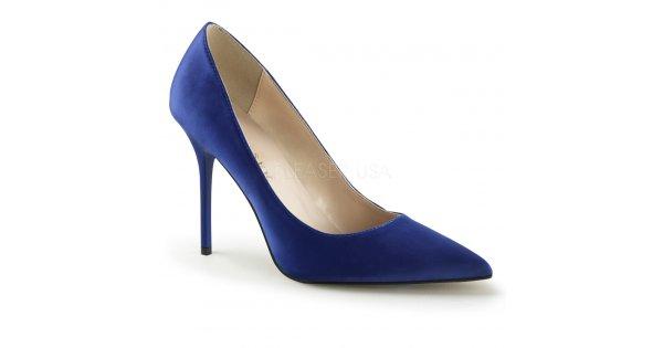 modré saténové dámské lodičky Classique-20-blsa - Velikost 42   SEXYBOTY.cz 09fbf00835