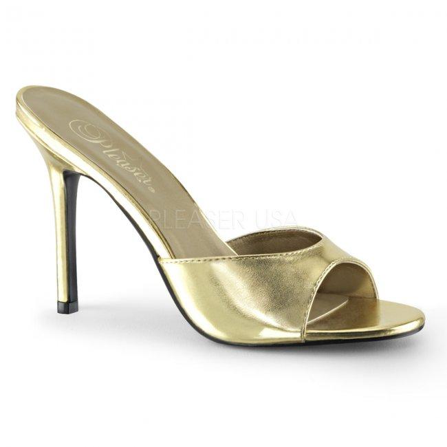 zlaté dámské pantoflíčky Classique-01-gmpu - Velikost 38