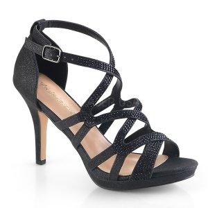 černé dámské páskové sandálky Daphne-42-bfa