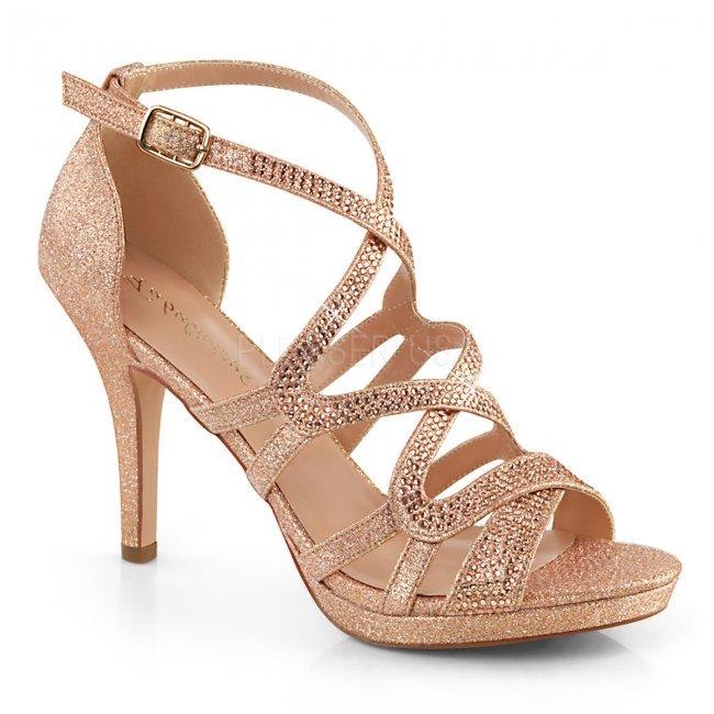 zlaté dámské páskové sandálky Daphne-42-rogldfa - Velikost 39