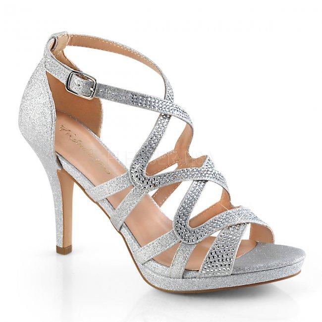 stříbrné dámské páskové sandálky Daphne-42-sfa - Velikost 35