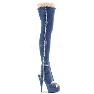 dámské džínové kozačky nad kolena Delight-3030-dmfa
