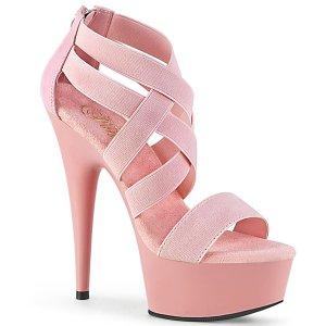růžové dámské sandály s elastickými pásky Delight-669-bpelspu