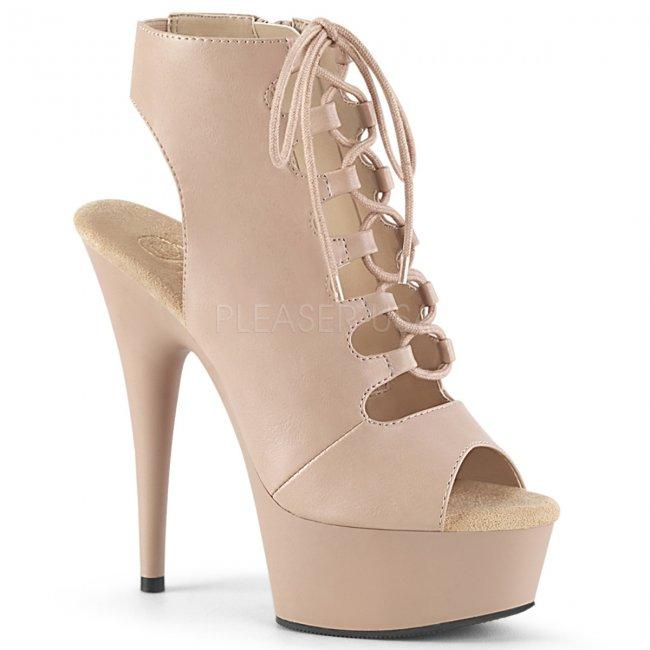 dámské béžové kotníkové boty Delight-600-20-ndpu - Velikost 39