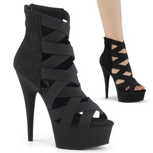 boty sandály s elastickými pásky Delight-600-24-belsmf