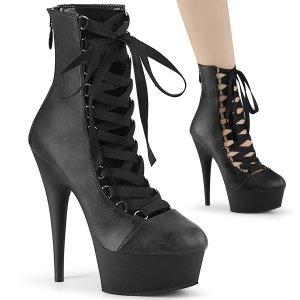 dámské černé kotníkové boty Delight-600-29-bpu