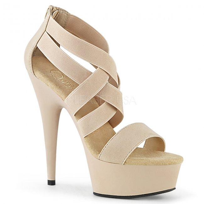 boty dámské sandály s elastickými pásky Delight-669-ndelspu - Velikost 39
