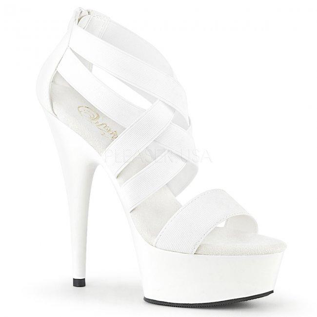 boty dámské sandály s elastickými pásky Delight-669-welspu - Velikost 44