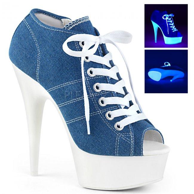 dámské modré tenisky na platformě a podpatku Delight-600sk-01-dmcanw - Velikost 40