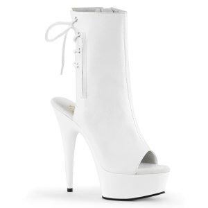 bílé kotníkové kozačky Delight-1018-wpu