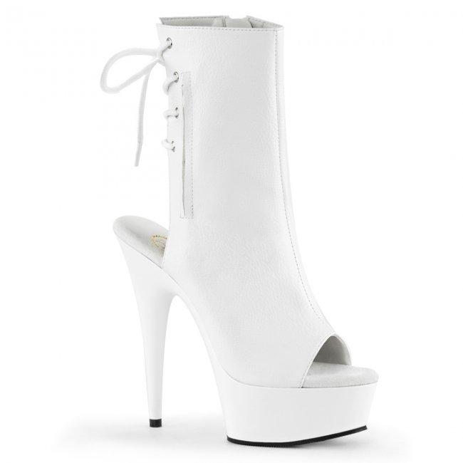 bílé kotníkové kozačky Delight-1018-wpu - Velikost 42