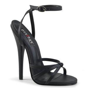 černé sandálky na vysokém jehlovém podpatku Domina-108-bpu