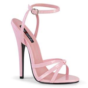 růžové sandálky na vysokém jehlovém podpatku Domina-108-bp