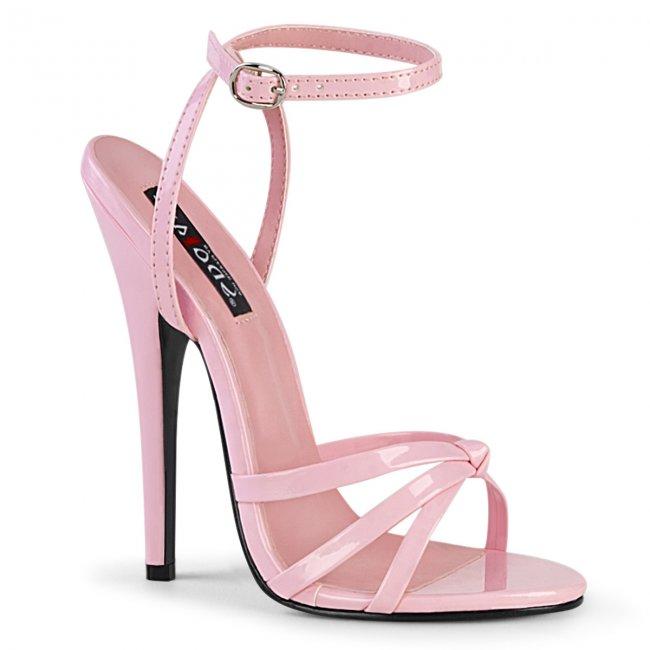 růžové sandálky na vysokém jehlovém podpatku Domina-108-bp - Velikost 35