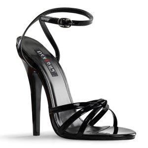 černé sandálky na vysokém jehlovém podpatku Domina-108-b