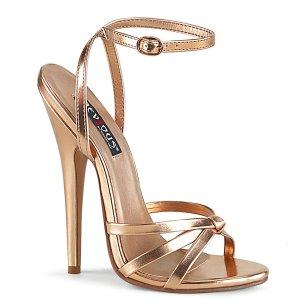 zlaté sandálky na vysokém jehlovém podpatku Domina-108-rogldmpu