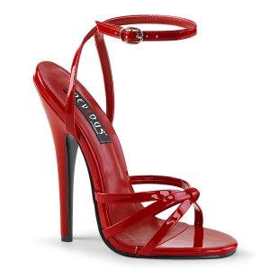 červené sandálky na vysokém jehlovém podpatku Domina-108-r