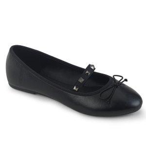 černé dámské baleríny Drac-07-bvl