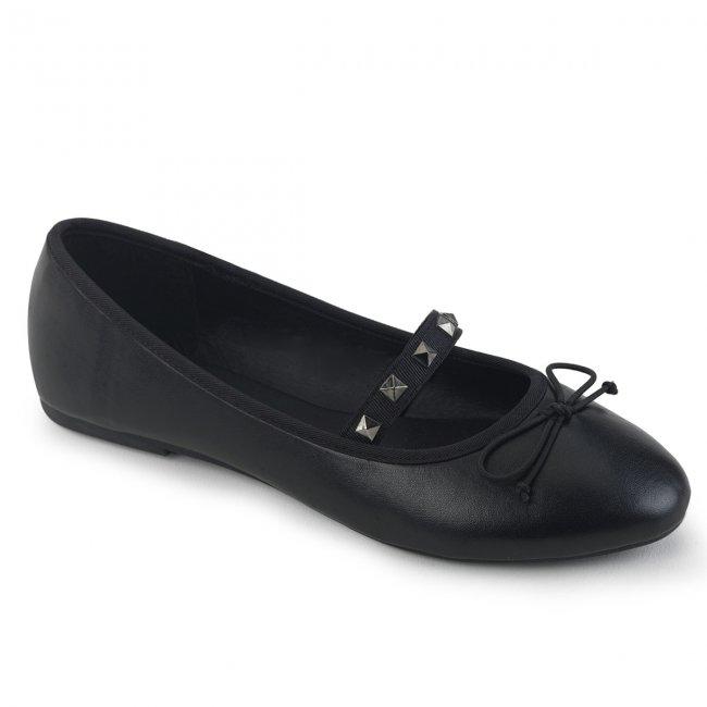 černé dámské baleríny Drac-07-bvl - Velikost 42