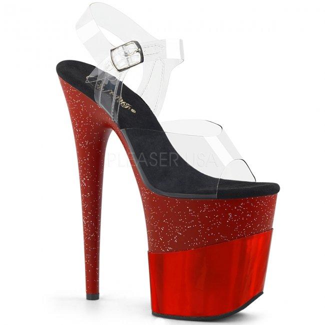 červené extra vysoké dámské sandály Flamingo-808-2hgm-crghg - Velikost 36