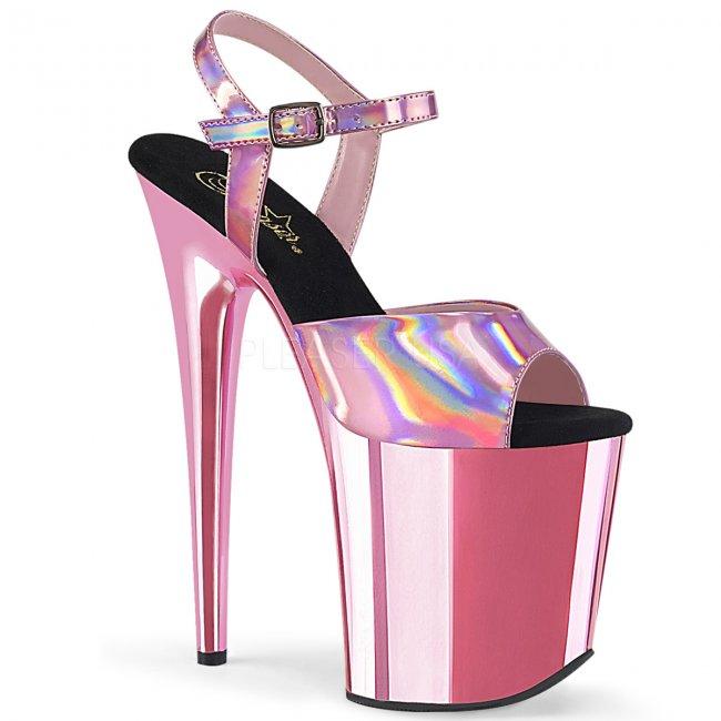 extra vysoké dámské růžové sandále Flamingo-809hg-bphgbpch - Velikost 35
