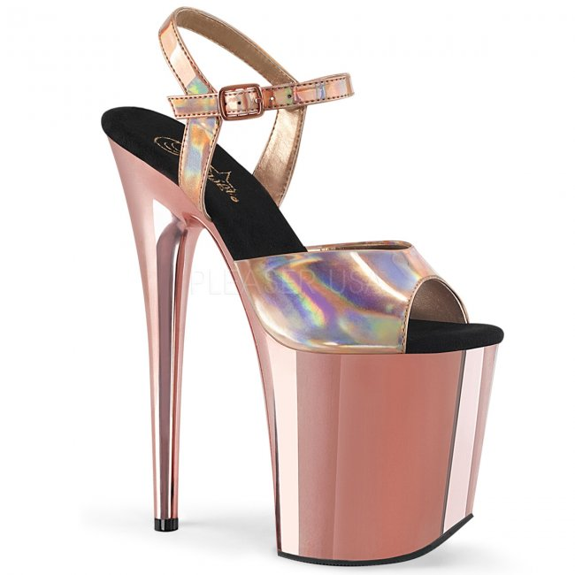 extra vysoké dámské sandále Flamingo-809hg-roghgrogch - Velikost 36