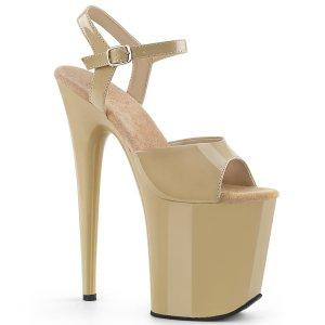 extra vysoké béžové sandále Flamingo-809-cr