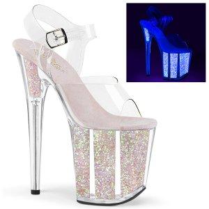 extra vysoké UV boty na platformě s glitry Flamingo-808uvg-cnopg