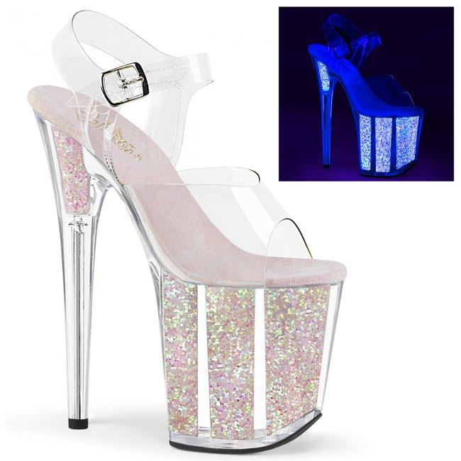 extra vysoké UV boty na platformě s glitry Flamingo-808uvg-cnopg - Velikost 37