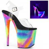 extra vysoké UV sandály Flamingo-808gxy-cngxyg