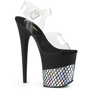extra vysoké sandály se stříbrnými hologramy Flamingo-808hfn-cbshg
