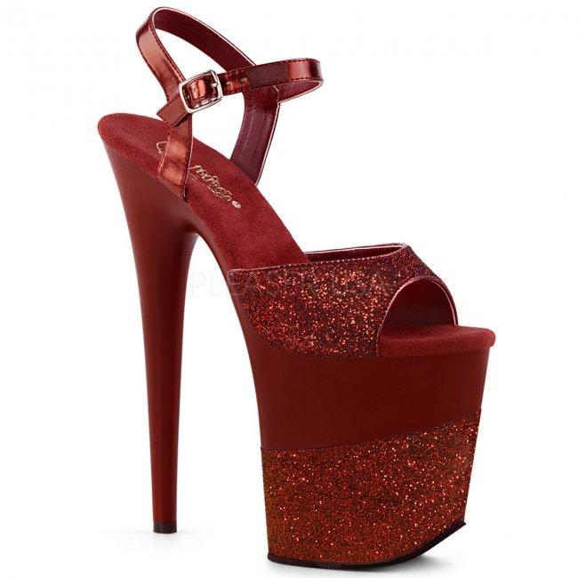 extra vysoké dámské boty s glitry Flamingo-809-2g-ryrg - Velikost 35