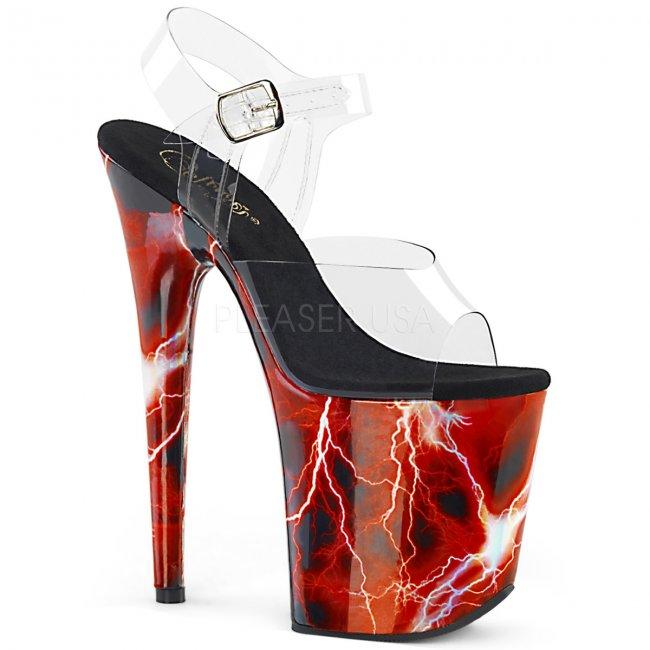 extra vysoké sandály s hologramy Flamingo-808storm-crhg - Velikost 38