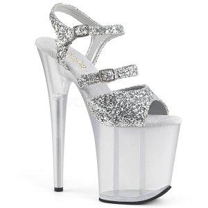 stříbrné boty na extra vysokém podpatku Flamingo-874-sg